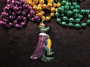 Mardi Grass Gator Necklace Set