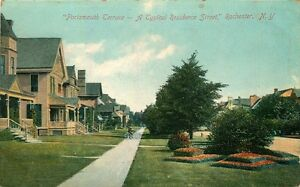 ROCHESTER-NY-PORTSMOUTH-TERRACE-TYPICAL-RESIDENCE-STREET-POSTCARD-c1910