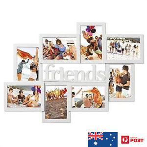 Image Is Loading UniGift Wooden Friends Collage Photo Frame White