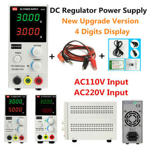 Details about Variable DC Power Supply Adjustable Regulator 4 Digits  Display High Precision