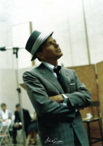 64611dcd59059 Details about Frank Sinatra in Studio 24x34 Poster Vintage-Style Candid Fedora  Hat and Suit