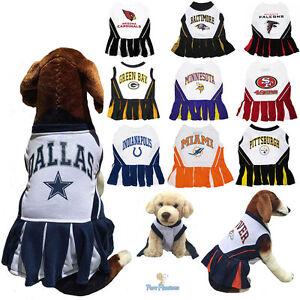 NFL Fan Gear Cheerleader Female Dog Dress for Pets Dogs - ALL TEAMS ... b489f94af