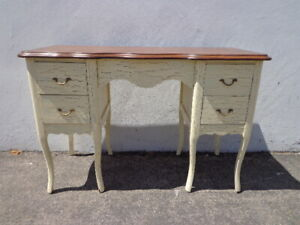 Antique Desk Table Vintage Regency