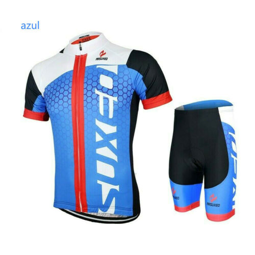 Conjunto caballeros Almohadilla Ropa mangas cortas Trajes ciclismo jersey