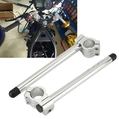 "Universal Motorcycle Clip On 7//8/"" CNC Handlebar 35//37//39//41//43//50MM Fork Tube"