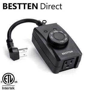 BESTTEN-Outdoor-Countdown-Timer-Outlet-w-Photocell-Light-Sensor-ETL-Black