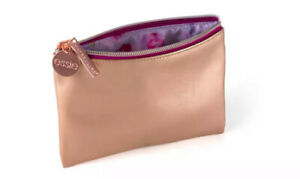 NWT-Maybelline-essie-Rose-Gold-Cosmetic-Zip-Pouch-Bag-7-L-X5-W