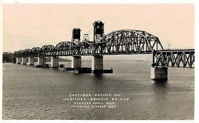 RPPC,Martine-Benecia,California,Bridge Over Suisun Bay,1930s