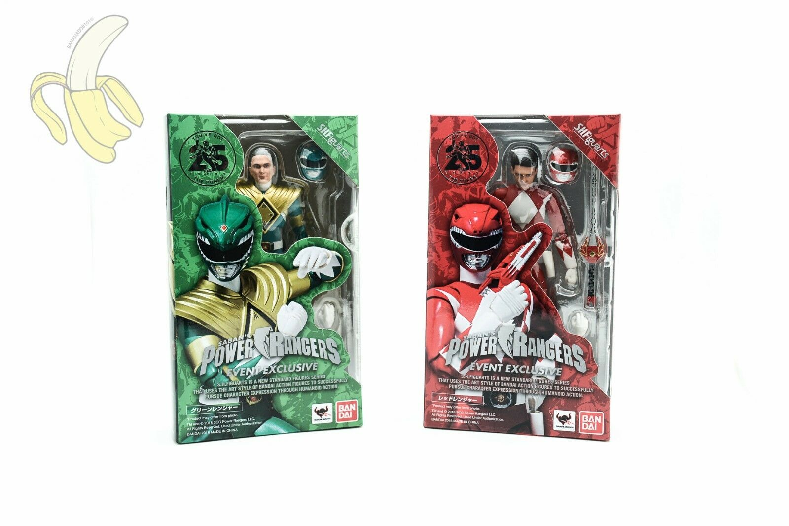 blueEFIN SDCC 2018 Red and Green Ranger EXCLUSIVE