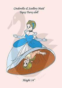Vintage Cinderella Topsy Turvy Doll Sewing Pattern 14 Tall Ebay