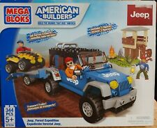 Mega Bloks Jeep Forest Expedition Building Set 97834 Brand New 344 Pieces