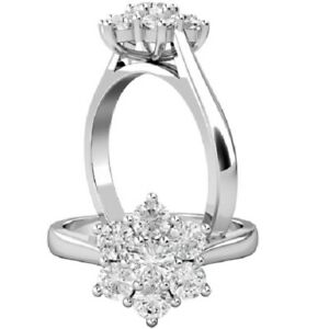 0.50 Ct Round Cut Moissanite Engagement Bridal Rings 18K Real White Gold Size 6
