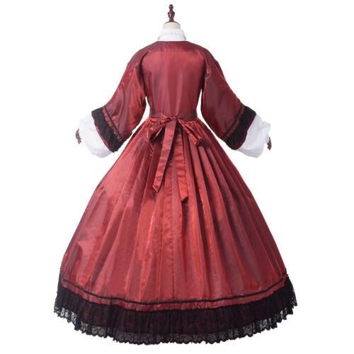 Women/'s 19 Century Civil War Ball Gown With Crinoline Victorian Prom Dress