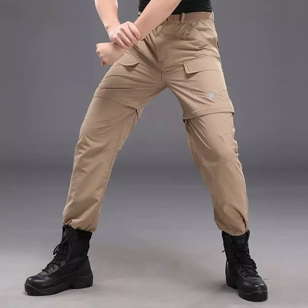 New Men's long pants Hiking two in one removable Fast drying Shorts Trousers