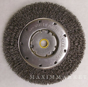 6 Quot Crimped Wire Wheel Brush For Bench Grinder Ebay