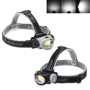 MINI-400-Lm-COB-LED-Stirnlampe-Kopflampe-Lampe-3AAA-3-Mode-Jogging-Headlight