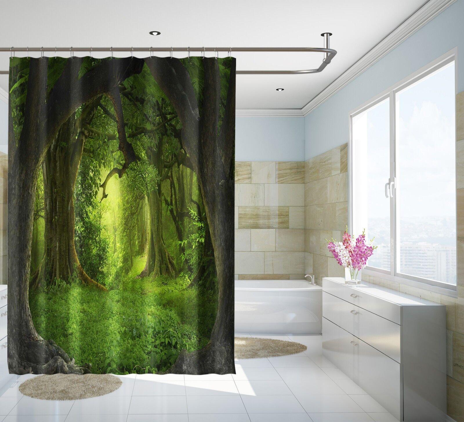 3D Wiese Wiese Wiese Baum 68 Duschvorhang Wasserdichte Faser Bad Daheim Windows Toilette DE   Trendy  70fa0e