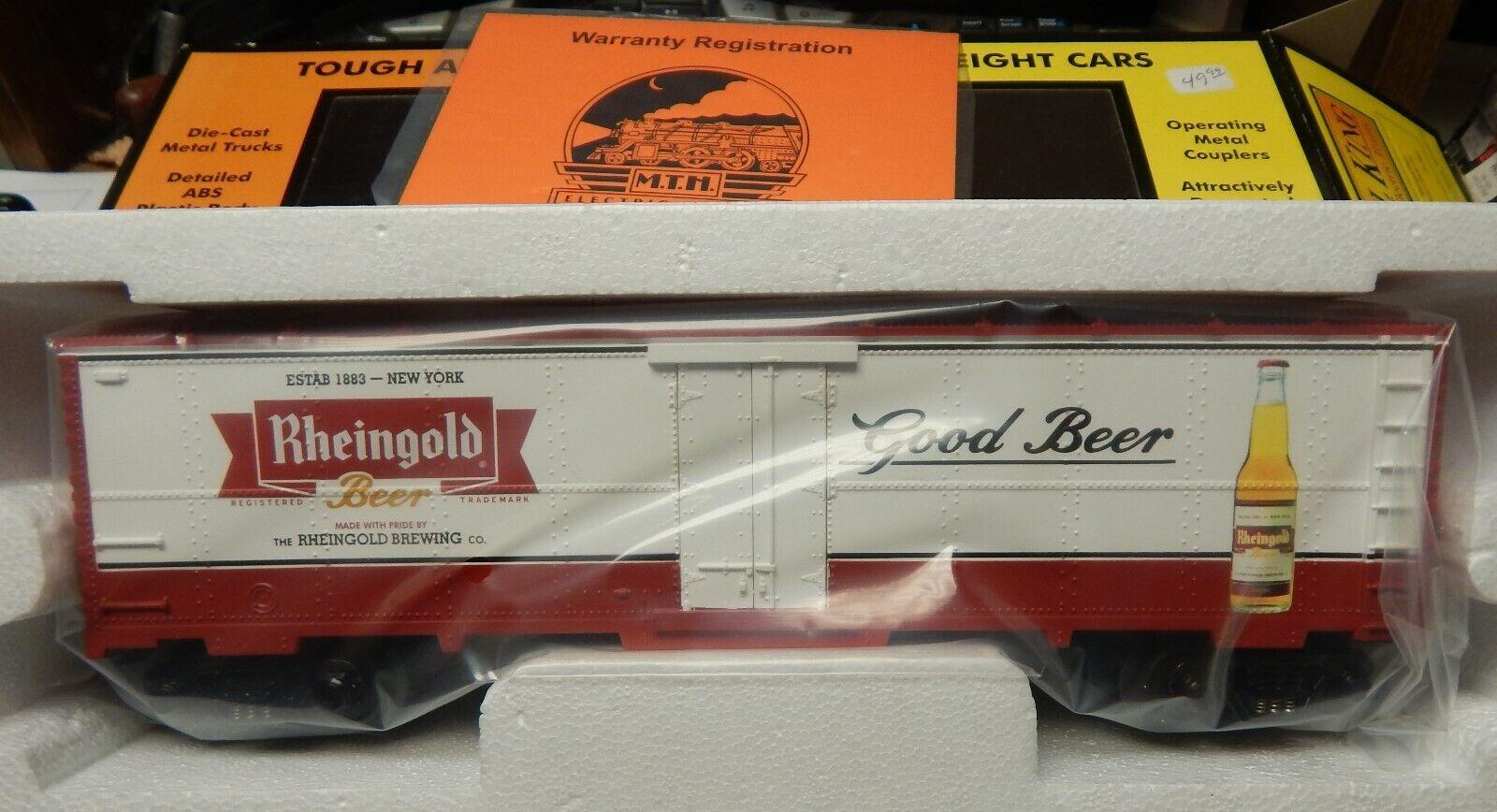 MTH RAIL KING 30-7883 RHEINgold BEER MODERN REEFER CAR NIB O SCALE RARE LQQK
