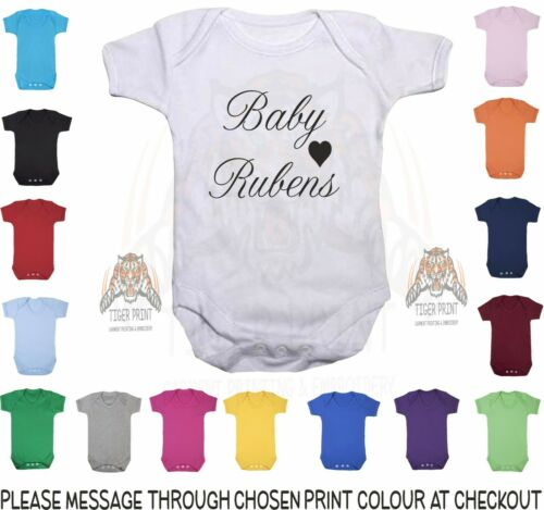 Personalised Baby Vest Baby YOUR NAME With Heart