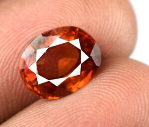 100% Natural Padparadscha Orange Sapphire Oval Gemstone 3.85 Ct Certified A22771
