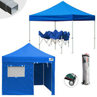 Waterproof Heavy Duty Ez Pop Up Canopy 10x10 Commercial Party Tent W/wheeled Bag