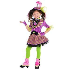 Ragazze Disney Cappellaio Matto Alice nel Paese delle Meraviglie Libro Giorno Costume Vestito