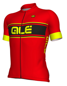 Ale' Jersey M C Solid Vetta Red Fluorescent Yellow