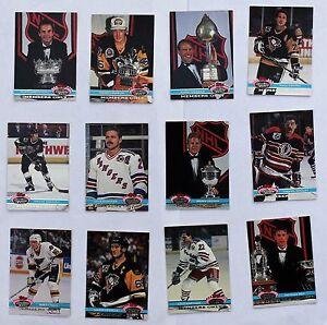 1991-92-Topps-Stadium-Club-Members-Only-Gretzky-Coffey-Roy-Hull-Messier