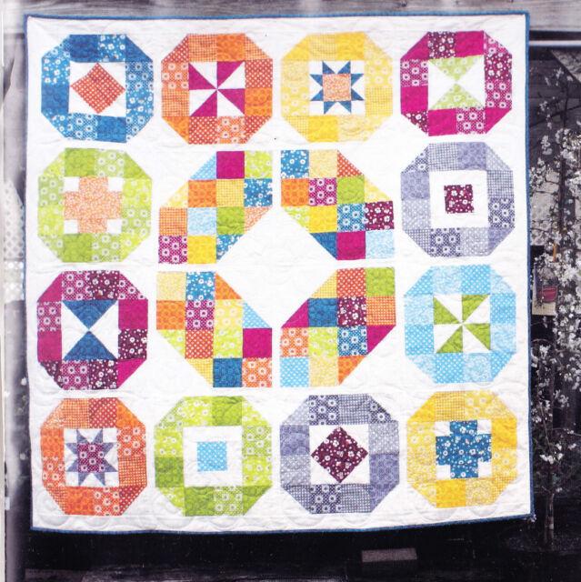 fabulous modern sampler pieced quilt PATTERN Homestead Betty Clearance