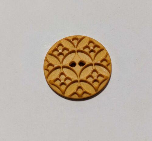 28mm Dill Buttons 1 1//8 inch Art Nouveau Geometric Plastic Button