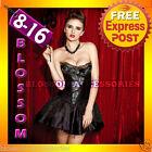 CC26 Peacock Moulin Rouge Burlesque Vegas Showgirl Fancy Dress Costume Corset