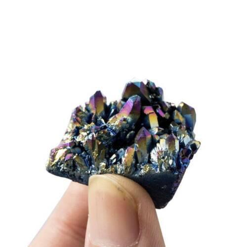 Details about  /Natural Quartz Crystal Rainbow Titanium Cluster Mineral Specimen Healing Stone /&