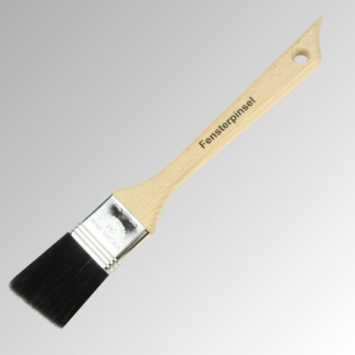 schwarz 35 mm abgeschrägt geschweifter Holzstiel Fensterpinsel