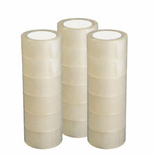 12 Rolls Packingshippingbox Carton Sealing Clear Tape 27 Mil 18 X 60 Yards