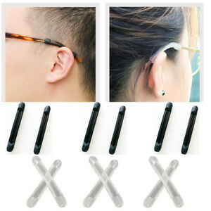 Details about Non Slip Eyeglasses Silicone Temple End Tips Arm Cover Ear  Sock Tube White Black
