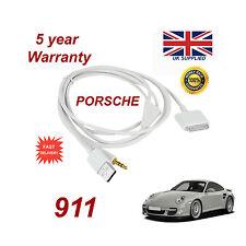 PORSCHE 911 CDR-31 Audio System iPhone 3GS 4 4S iPod USB & Aux Cable white