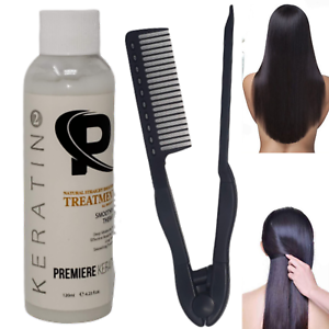 Professional Brazilian Keratin Hair Treatment Kit 120ml 4oz Carbon Fiber Comb Ebay