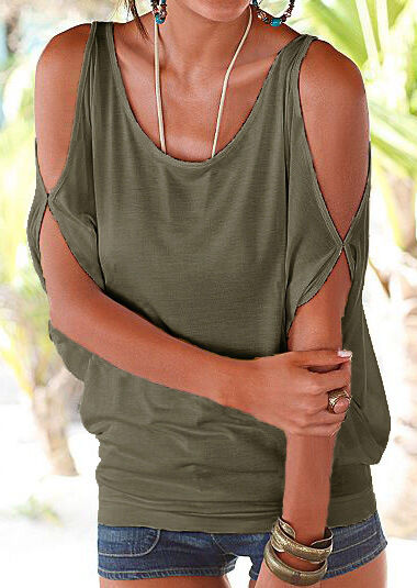 NEW Womens Summer Loose Casual Tops Off Shoulder Shirt  Blouse Ladies Top  6-18