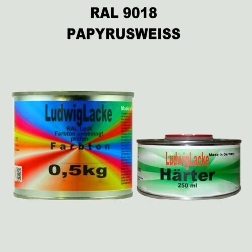 RAL 9018 papyrusweiß Papyrusweiss Acryllack 0,75 kg Brillant AVEC PLUS DUR holzlack