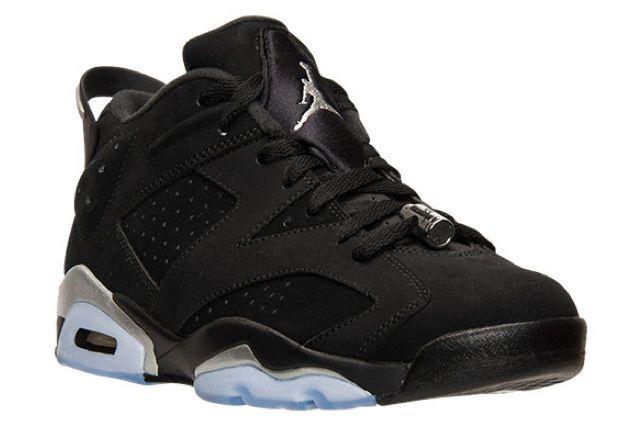 Nike Air Jordan Retro VI 6 Low CHROME Black Metallic Silver 304401-003 SHIPS NOW