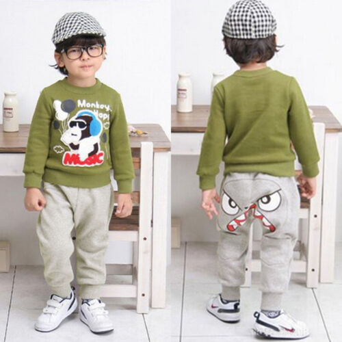 Toddler Kid Boy Girl Harem Pants Trousers Slacks Bottom Sweatpants Sportwear