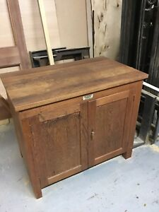 Details about Dryad Of Leicester Arts And Crafts Wooden Cupboard Retro  Vintage Kitchen Island