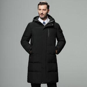 Men Duck Down Parka Jacket Thicken Hooded Puffer Warm Lightweight Coat L XL-3XL