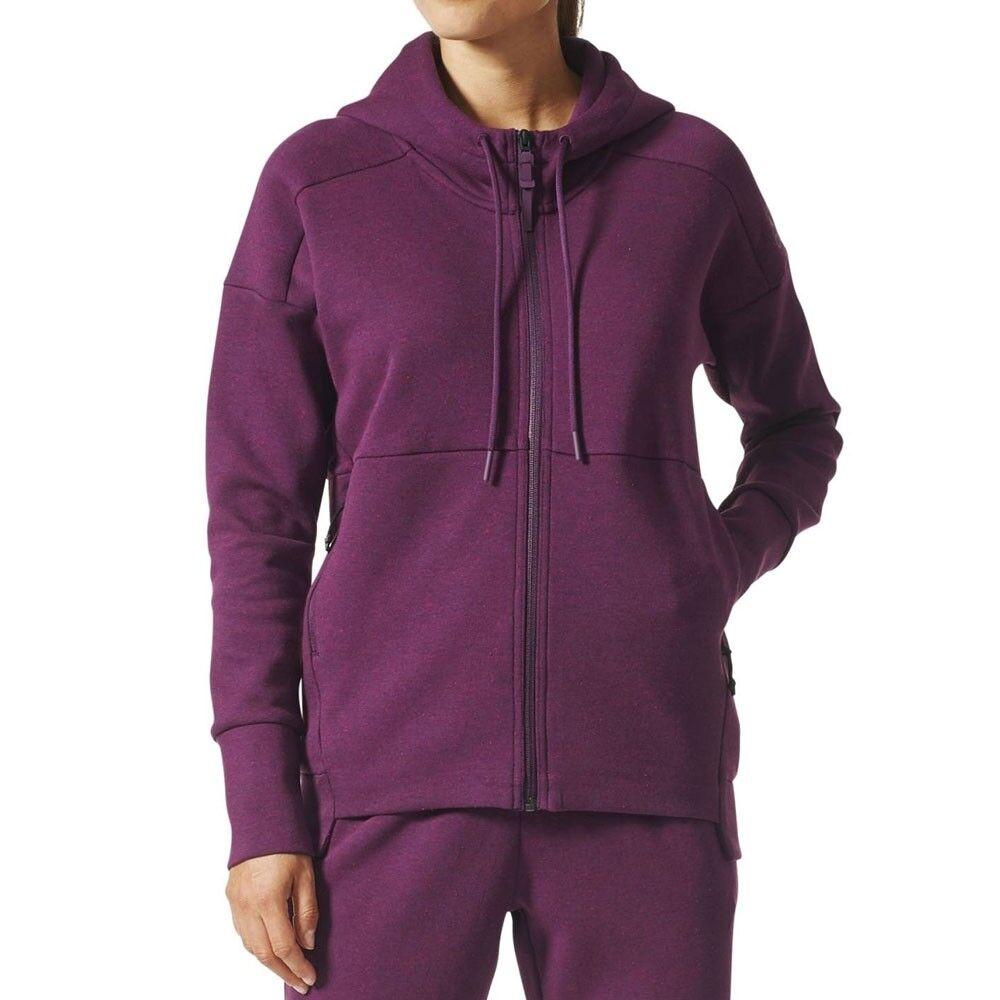 Adidas Pull Femme Stade à Capuche BQ9554 Violet Modèle BQ9554