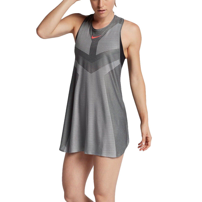 Womens Nike Court Dry Slam Tennis Dress Size S (854883 073) Grey