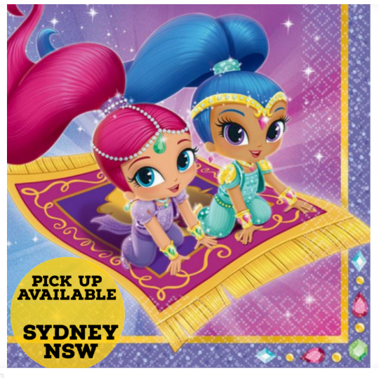Shimmer and Shine Luncheon Napkins Birthday Party Supplies Pack of 16