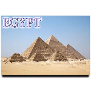 Egyptian pyramids at Giza fridge magnet Egypt travel souvenir Cairo