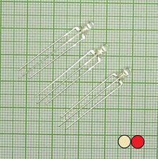 E133k + Widerstand 10 X Blink Led im Rot farbe 3mm, klar, Blinklicht, flash