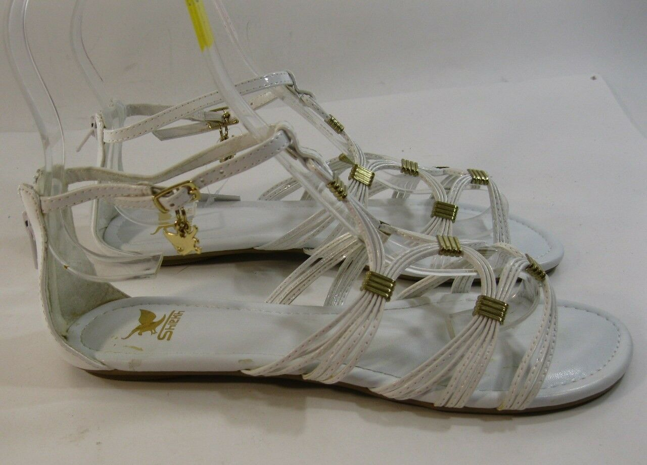 Summer White/Gold Womens Shoes Size Roman Gladiator Sexy Sandals Size Shoes 6 bd3edb