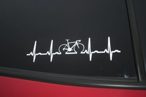 Road Bike heartbeat die-cut car window sticker buy 2 get 1 free!